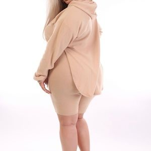 """Cutting Corners "" Biker Short Set - 3X -Taupe"